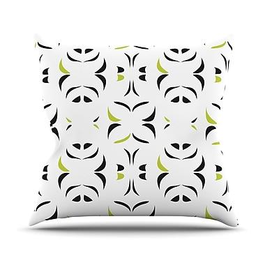 KESS InHouse Retro Snow Storm Outdoor Throw Pillow