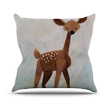 KESS InHouse Oh Deer Outdoor Throw Pillow