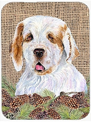 Caroline's Treasures Clumber Spaniel Glass Cutting Board