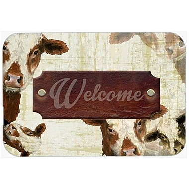 Caroline's Treasures Welcome Cow Glass Cutting Board