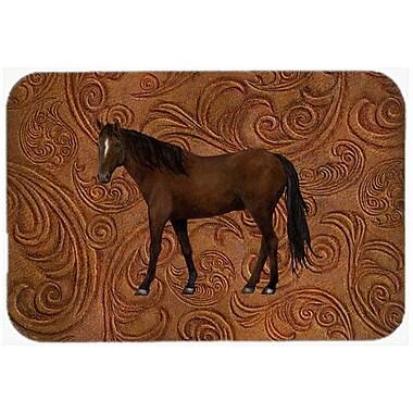 Caroline's Treasures Horse Glass Cutting Board
