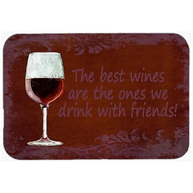 Caroline's Treasures The Best Wines Are the Ones We Drink w/ Friends Glass Cutting Board