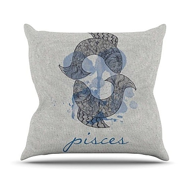 KESS InHouse Pisces Outdoor Throw Pillow