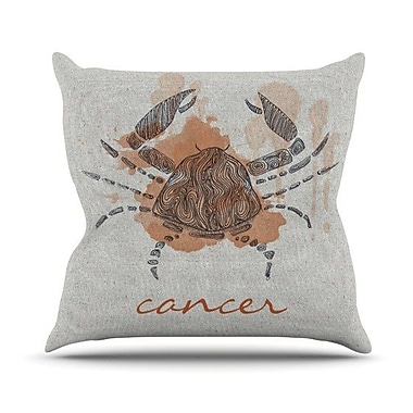 KESS InHouse Cancer Outdoor Throw Pillow
