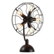 UrbanHomeIndustrial 5-Light Vintage Fan 25'' Table Lamp