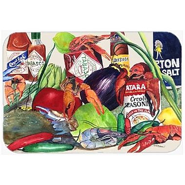 Caroline's Treasures Louisiana Spices Glass Cutting Board