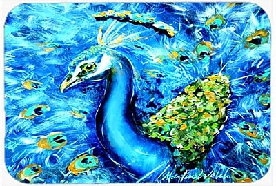 Caroline's Treasures Peacock Straight up Glass Cutting Board WYF078278742049
