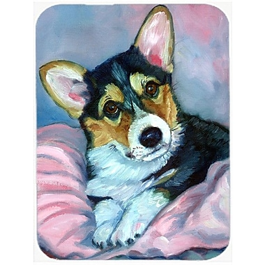 Caroline's Treasures Corgi Puppy w/ Blanket Glass Cutting Board