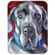 Caroline's Treasures Great Dane Natural Ears Collar Glass Cutting Board