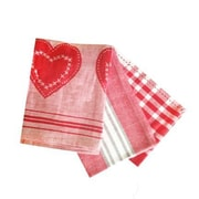 Rue Montmartre Love in Stripes ELS Cotton 3 Piece Kitchen Towel Set