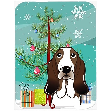 Caroline's Treasures Under the Christmas Tree and Basset Hound Glass Cutting Board