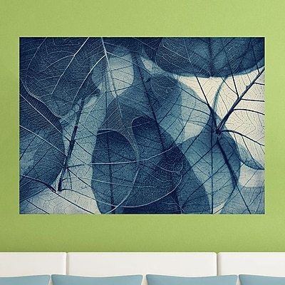 My Wonderful Walls Blue Skeleton Leaves by Ingrid Beddoes Wall Decal; Medium