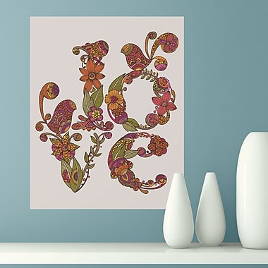 My Wonderful Walls Floral Love Letter by Valentina Harper Wall Decal; Small