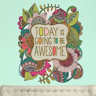 My Wonderful Walls Today is Going to Be Awesome by Valentina Harper Wall Decal; Large