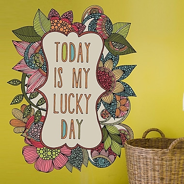 My Wonderful Walls Today is My Lucky Day by Valentina Harper Wall Decal; Small