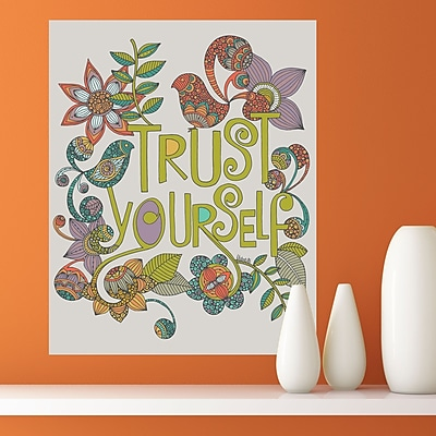 My Wonderful Walls Trust Yourself by Valentina Harper Wall Decal; Medium