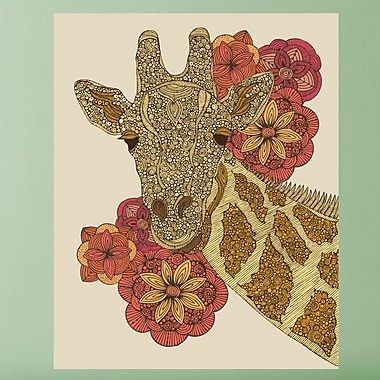 My Wonderful Walls Floral Giraffe Animal by Valentina Harper Wall Decal; Extra Large