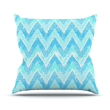 KESS InHouse Snow Chevron Outdoor Throw Pillow