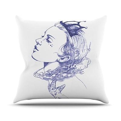 KESS InHouse Queen of the Sea Outdoor Throw Pillow; Purple