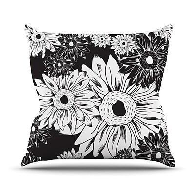 KESS InHouse Midnight Florals Outdoor Throw Pillow