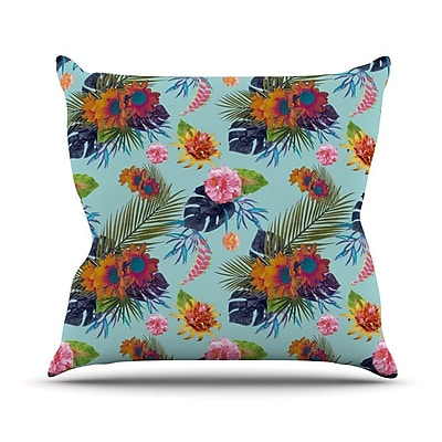 KESS InHouse Tropical Floral Outdoor Throw Pillow