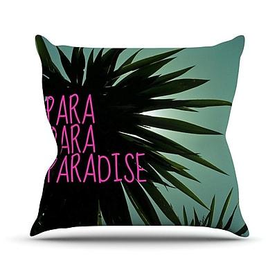 KESS InHouse Exotic Paradise Chevron Outdoor Throw Pillow