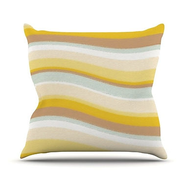 KESS InHouse Desert Waves Outdoor Throw Pillow