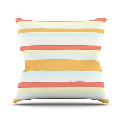 KESS InHouse Sand Stripes Outdoor Throw Pillow