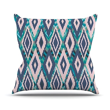 KESS InHouse Tribal Ikat Outdoor Throw Pillow