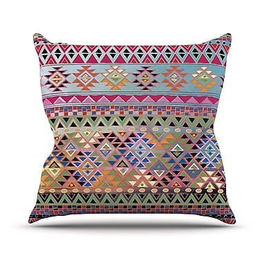 KESS InHouse Tribal Native Outdoor Throw Pillow