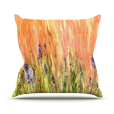 KESS InHouse Welcome Spring Outdoor Throw Pillow