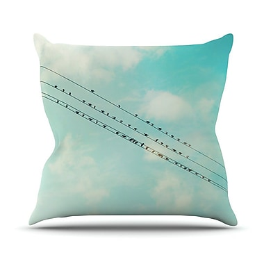 KESS InHouse Birds on Wires Outdoor Throw Pillow