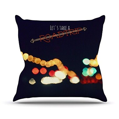 KESS InHouse Road Trip Outdoor Throw Pillow