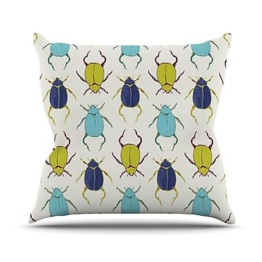 KESS InHouse Beetles Outdoor Throw Pillow