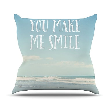 KESS InHouse You Make Me Smile Outdoor Throw Pillow