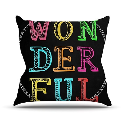 KESS InHouse Wonderful Outdoor Throw Pillow