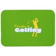 Caroline's Treasures I'd Rather Be Golfing Man Glass Cutting Board