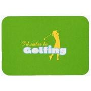 Caroline's Treasures I'd Rather Be Golfing Woman Glass Cutting Board