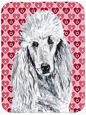 Caroline's Treasures Standard Poodle Hearts and Love Glass Cutting Board