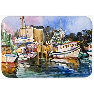 Caroline's Treasures Shrimp Boat Warehouse Glass Cutting Board