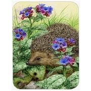 Caroline's Treasures Hedgehog Glass Cutting Board