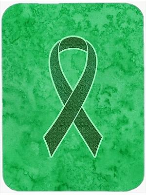 Caroline's Treasures Ribbon for Awareness Glass Cutting Board; Kelly Green