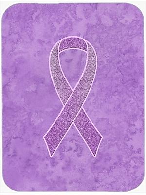 Caroline's Treasures Ribbon for Awareness Glass Cutting Board; Lavender