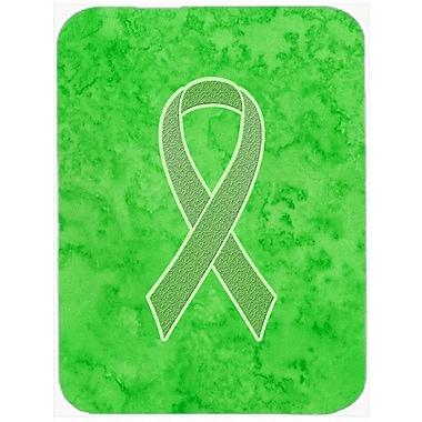 Caroline's Treasures Ribbon for Awareness Glass Cutting Board; Lime Green