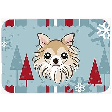 Caroline's Treasures Winter Holiday Chihuahua Glass Cutting Board
