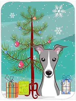 Caroline's Treasures Under the Christmas Tree and Italian Greyhound Glass Cutting Board