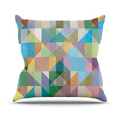 KESS InHouse Graphic 74 Outdoor Throw Pillow