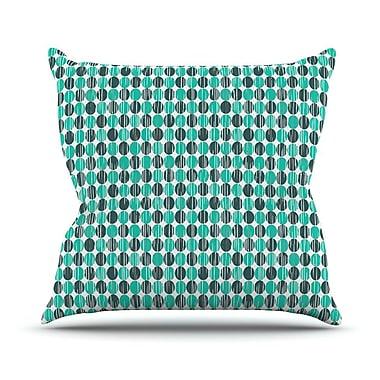 KESS InHouse Distressed Circles Outdoor Throw Pillow