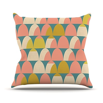 KESS InHouse Scallops Outdoor Throw Pillow