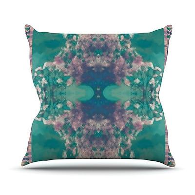 KESS InHouse Ashby Blossom Outdoor Throw Pillow